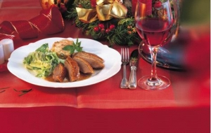 Goose With Applechestnut Stuffing