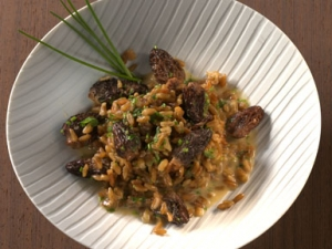 Green Risotto With Morels And Core Garden Herbs