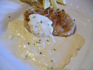 Minute Steaks Breaded Cream Sauce With Exotic Exotic