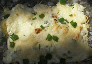 Potato Gratin With Goat Cheese And Spring Onion Sauce