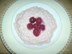 Rice-pudding-with-cherries-recipe