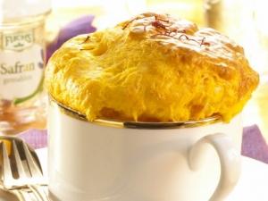 Saffroncheese souffl