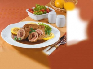 Veal Roulade with Lemon Sauce