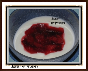 Yoghurt With Prunes