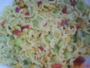 Colorful Pasta Salad Without Cooking