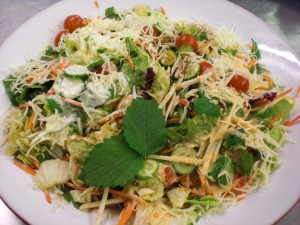 Mixed Salad With Evening Primrose And Lemon Balm Leaves