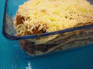 Pancake Casserole Meat Sauce For Leftovers
