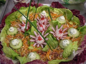 Sprout Salad With Radishes And Radicchio
