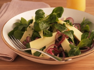 Appenzeller Cheese Salad With Marinated Onions
