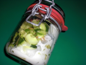 Cucumber Salad With Spring Onions And Olives