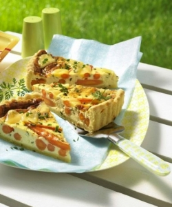 Herbcheese quiche