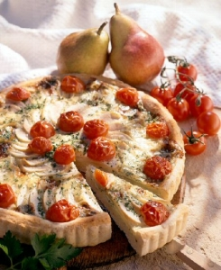 Pear And Gorgonzola Quiche