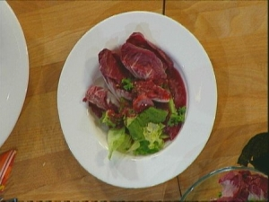 Salad With Radicchio And Cherry Juice