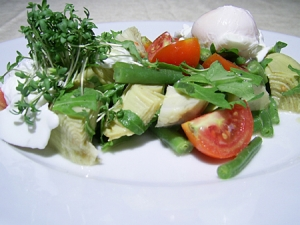 Spring Salad With Poached Eggs