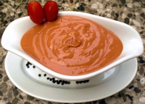 Tomato cream sauce from the oven